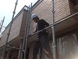 足場の工事