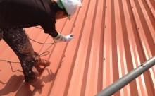 高浜市折半屋根断熱ガイナ塗装