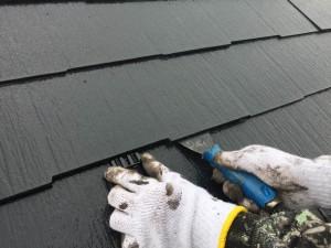 西尾市屋根塗装縁切り