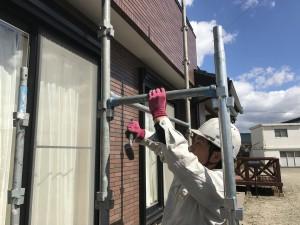 外壁サイディングクラック補修