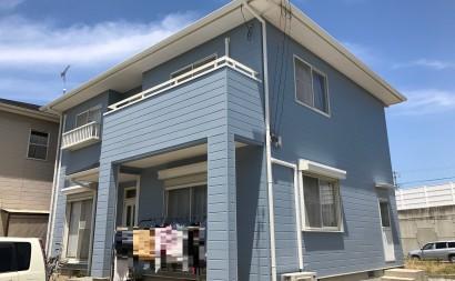 岡崎市外壁ブルーグレー遮熱塗装