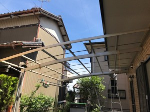 愛知県西尾市カーポート屋根
