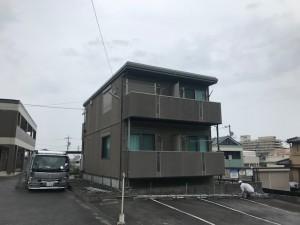岡崎市アパート壁、屋根塗装工事