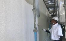 愛知県西三河西尾市外壁超低汚染無機フッ素塗装色褪せクラック汚れ藻欠け中塗り