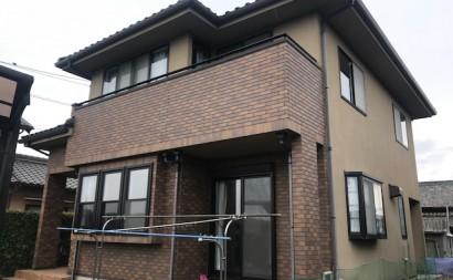 愛知県西三河西尾市外壁超低汚染遮熱シリコン塗装色褪せクラック汚れ藻欠け施工前