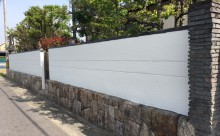 三河西尾市擁壁塗り替え塗装