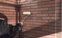 外壁意匠サイディングクリヤー塗装