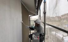 愛知県西尾市リシン壁艶消し塗替え塗装