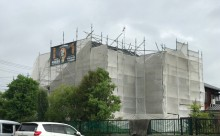 東三河西三河西尾市碧南市安城市岡崎市外壁塗装超低汚染無機フッ素塗装屋根4Fフッ素樹脂高耐候遮熱変退色防止