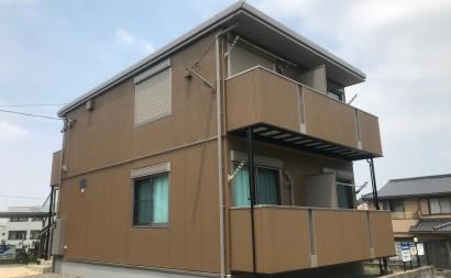 西三河愛知県岡崎市西尾市アパート外壁屋根シリコン塗装色褪せクラック施工後
