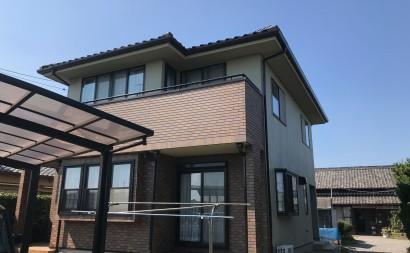 愛知県西三河西尾市外壁超低汚染遮熱シリコン塗装色褪せクラック汚れ藻欠け施工後