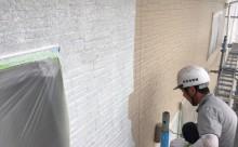 愛知県西尾市碧南市岡崎市安城市外壁超低汚染無機フッ素塗装屋根ガイナ塗装色褪せクラック汚れシール割れ外壁中塗り