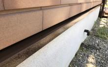愛知県西三河西尾市外壁超低汚染遮熱シリコン塗装色褪せクラック汚れ藻欠け苔施工後水切り