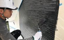 愛知県西三河碧南市西尾市岡崎市外壁塗装ブラックグレー超低汚染遮熱シリコン塗装意匠柄塗装色褪せ汚れ欠けひび割れクラック欠けアクセント柄付け塗装