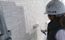 愛知県西三河東三河西尾市外壁塗装超低汚染遮熱シリコン塗装外壁修繕汚れひび割れ欠けクラック色褪せ中塗り