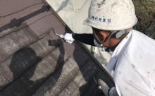 愛知県西三河西尾市安城市屋根塗装太陽光高反射遮熱塗装色褪せ欠けクラック汚れ中塗り