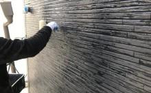 愛知県西三河碧南市西尾市岡崎市外壁塗装超低汚染遮熱シリコン塗装意匠柄塗装色褪せ汚れ欠けひび割れクラック欠けアクセント保護クリヤー塗装