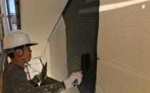 愛知県西三河碧南市西尾市岡崎市外壁塗装超低汚染遮熱シリコン塗装意匠柄塗装ブラックグレー色褪せ汚れ欠けひび割れクラック欠けアクセント外壁目地塗装