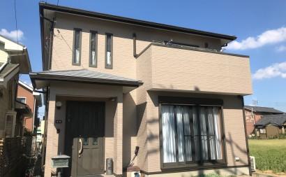 愛知県西尾市碧南市岡崎市安城市外壁超低汚染無機フッ素塗装屋根ガイナ塗装色褪せクラック汚れシール割れ施工後完成
