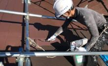 愛知県西三河西尾市安城市屋根塗装太陽光高反射遮熱塗装色褪せ欠けクラック汚れ上塗り