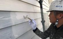 愛知県西三河西尾市安城市外壁塗装耐候性保護塗装屋根塗装色褪せ傷みひび割れクラック汚れ外壁上塗り2回目