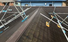 愛知県西三河西尾市安城市屋根塗装太陽光高反射遮熱塗装色褪せ欠けクラック汚れ現状