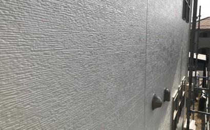 愛知県西三河碧南市西尾市岡崎市外壁塗装超低汚染遮熱シリコン塗装意匠柄塗装色褪せ汚れ欠けひび割れクラック欠け外壁完成