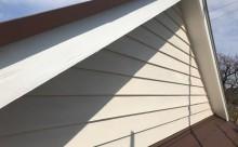 愛知県西三河西尾市安城市外壁塗装屋根塗装太陽光高反射遮熱塗装色褪せ欠けクラック汚れ板壁木外壁破風ホワイト外観完成施工後