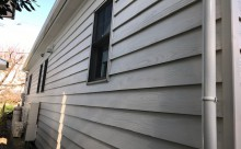 愛知県西三河西尾市安城市外壁塗装屋根塗装太陽光高反射遮熱塗装色褪せ欠けクラック汚れ板壁木外壁外観ホワイト完成施工後