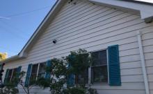 愛知県西三河西尾市安城市外壁塗装屋根塗装太陽光高反射遮熱塗装色褪せ欠けクラック汚れ板壁木外壁完成施工後