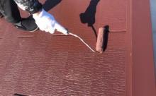 愛知県岡崎市西尾市外壁塗装超低汚染遮熱シリコン塗装屋根塗装超低汚染遮熱フッ素塗装色褪せシール割れクラック欠け苔汚れ屋根上塗り2回目