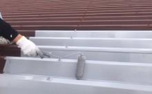 愛知県西三河東三河西尾市店舗外壁塗装屋根塗装外壁耐候性シリコン塗装屋根超低汚染遮熱シリコン塗装傷み汚れ割れクラック色褪せ欠け屋根施工写真錆止め