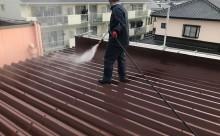 愛知県西三河東三河西尾市店舗外壁塗装屋根塗装外壁耐候性シリコン塗装屋根超低汚染遮熱シリコン塗装傷み汚れ割れクラック色褪せ欠け屋根施工写真洗浄