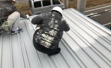 愛知県西三河東三河西尾市倉庫塗装外壁高反射遮熱シリコンサーモアイSi屋根ガイナ遮断熱セラミック色褪せ汚れ錆サビ雨垂れ剥がれ屋根中塗り