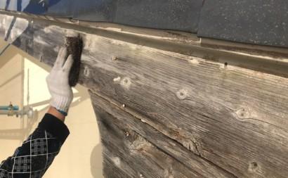 西三河東三河西尾市外壁塗装破風板金巻き耐候性シリコン塗装痛み色褪せ汚れ欠け割れ破風板金巻きケレン