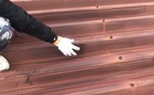 愛知県西三河東三河西尾市店舗外壁塗装屋根塗装外壁耐候性シリコン塗装屋根超低汚染遮熱シリコン塗装傷み汚れ割れクラック色褪せ欠け屋根施工写真ケレン