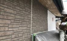 愛知県西三河東三河西尾市碧南市外壁塗装色褪せ汚れ傷み割れクラック外壁補修外壁塗装工事下塗り