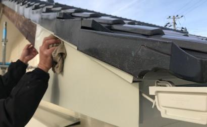 西三河東三河西尾市外壁塗装破風板金巻き耐候性シリコン塗装痛み色褪せ汚れ欠け割れ破風板金巻きガルバリウム