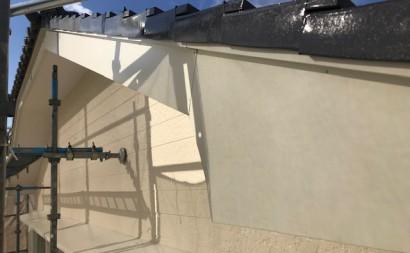西三河東三河西尾市外壁塗装破風板金巻き耐候性シリコン塗装痛み色褪せ汚れ欠け割れ破風板金巻き完成