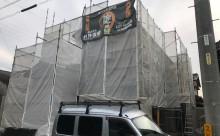 愛知県西三河東三河西尾市碧南市外壁塗装色褪せ汚れ傷み割れクラック外壁補修足場