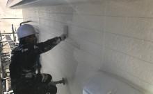 西三河東三河西尾市外壁塗装破風板金巻き耐候性シリコン塗装痛み色褪せ汚れ欠け割れ外壁塗装上塗り