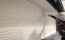 愛知県西三河東三河西尾市碧南市外壁塗装超低汚染遮熱シリコン色褪せ汚れ傷み割れクラック外壁補修外壁塗装工事アステックリファイン1000Si-IRクールホワイト上塗り