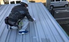 愛知県西三河東三河西尾市倉庫塗装外壁高反射遮熱シリコンサーモアイSi屋根ガイナ遮断熱セラミック色褪せ汚れ錆サビ雨垂れ剥がれ屋根上塗り