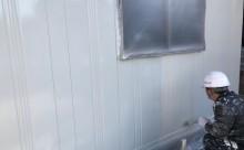 愛知県西三河東三河西尾市倉庫塗装外壁高反射遮熱シリコンサーモアイSi屋根ガイナ遮断熱セラミック色褪せ汚れ錆サビ雨垂れ剥がれ外壁上塗り