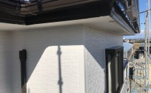 愛知県西三河東三河西尾市外壁塗装超低汚染遮熱シリコンアステックリファイン塗装外壁修繕汚れひび割れ欠けクラック色褪せ施工後完成外壁ホワイト