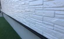 愛知県西三河東三河西尾市外壁塗装超低汚染遮熱シリコンアステックリファイン塗装外壁修繕汚れひび割れ欠けクラック色褪せ施工後完成土台水切り