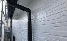 愛知県西三河東三河西尾市碧南市外壁塗装色褪せ汚れ傷み割れクラック外壁補修施工後雨樋