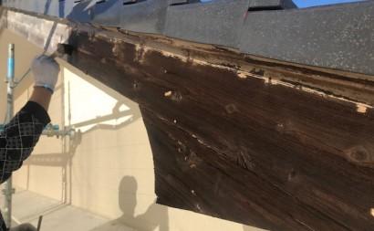 西三河東三河西尾市外壁塗装破風板金巻き耐候性シリコン塗装痛み色褪せ汚れ欠け割れ破風板金巻き着色防腐剤