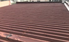 愛知県西三河東三河西尾市店舗外壁塗装屋根塗装外壁耐候性シリコン塗装屋根超低汚染遮熱シリコン塗装傷み汚れ割れクラック色褪せ欠け屋根施工写真現状