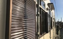 愛知県西三河東三河西尾市店舗外壁塗装屋根塗装外壁耐候性シリコン塗装屋根超低汚染遮熱シリコン塗装ニュートラルホワイト傷み汚れ割れクラック色褪せ欠け施工後戸袋雨戸